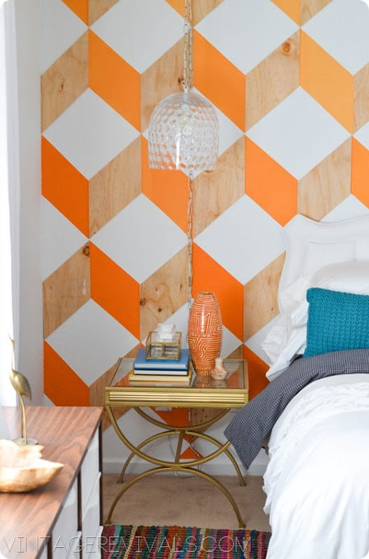 3D Vintage Geometric Wall Paint