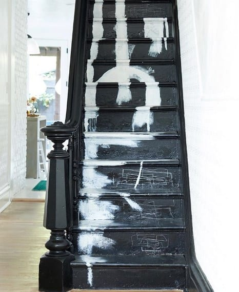 Abstract Painted Stairs