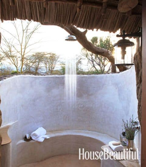 African Outdoor Shower