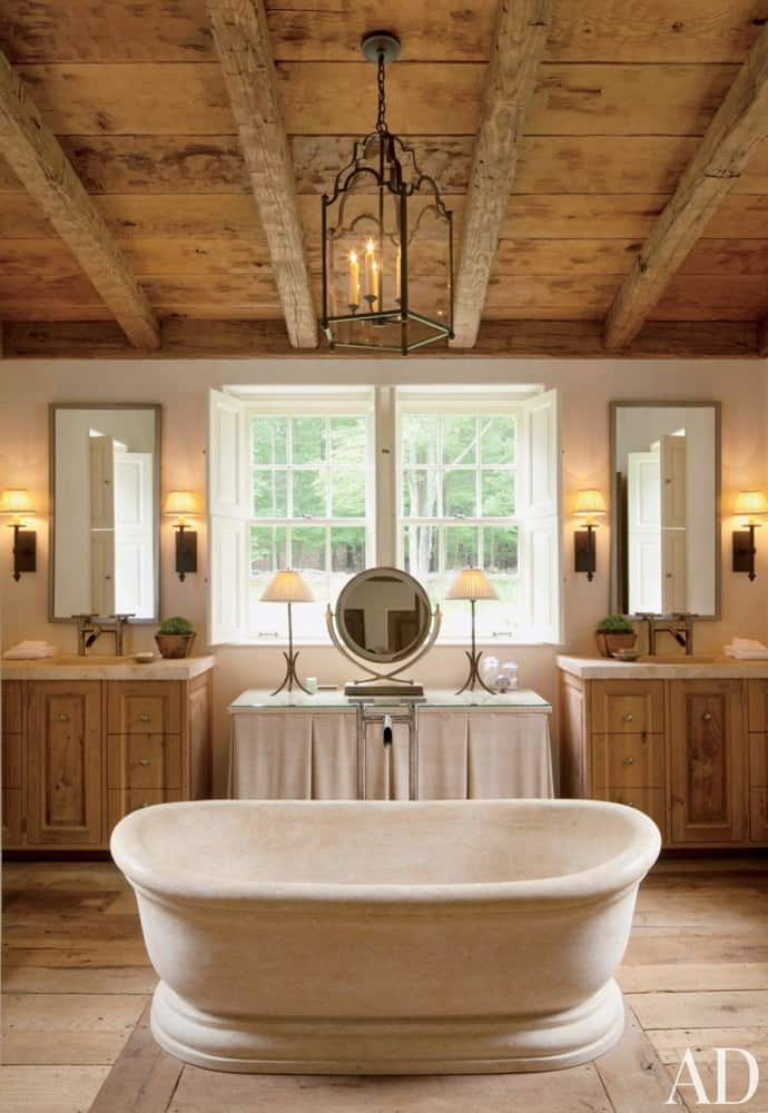 All Wood Farmhouse Bathroom Decor Ideas