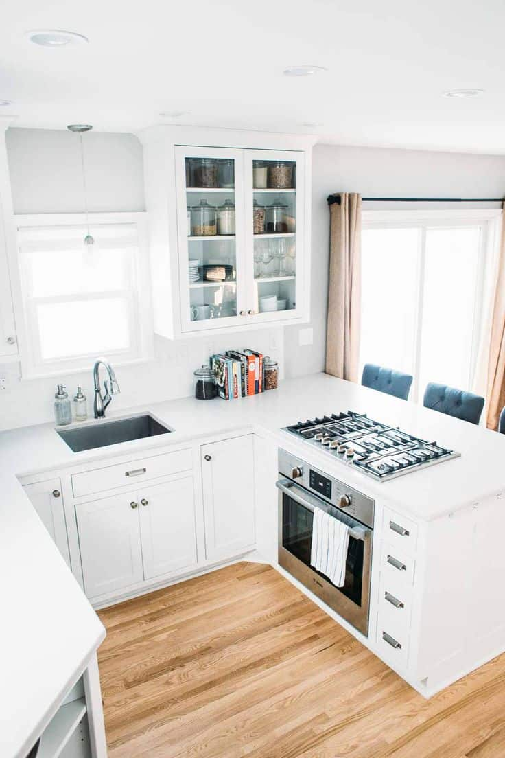 All-white tiny kitchen