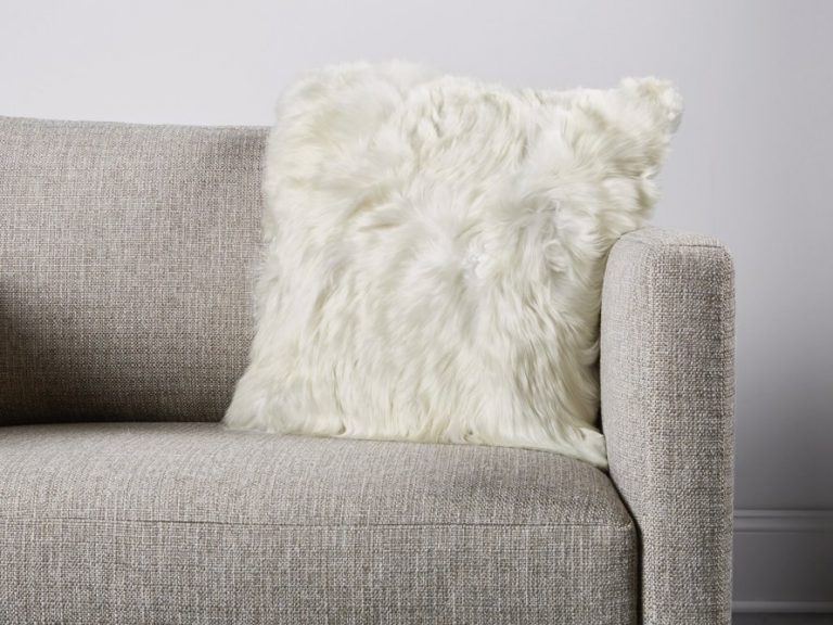 Alpaca Fur Pillow Ideas For A Gray Couch