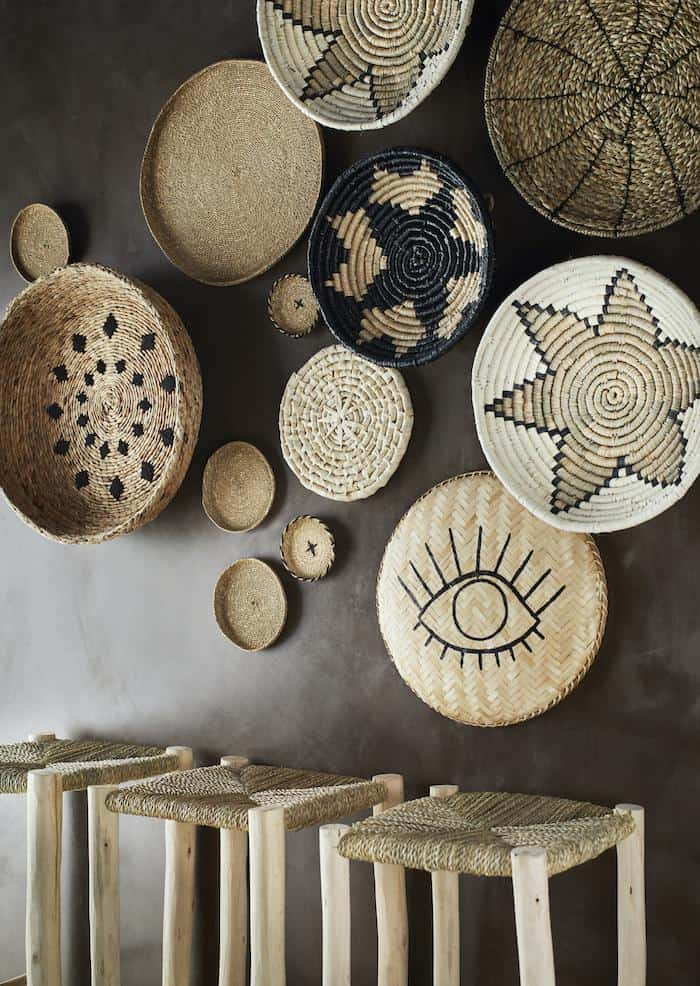Artistic Patterned Wall Baskets