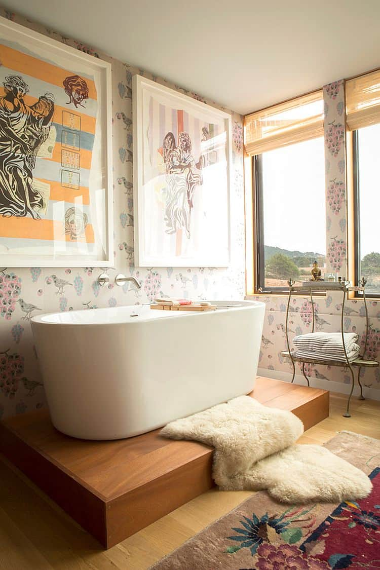 Artistic Shabby Chic Bathroom