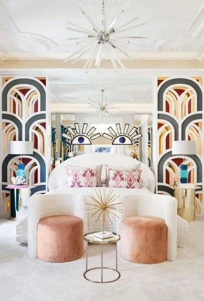 Artsy Art Deco Bedroom