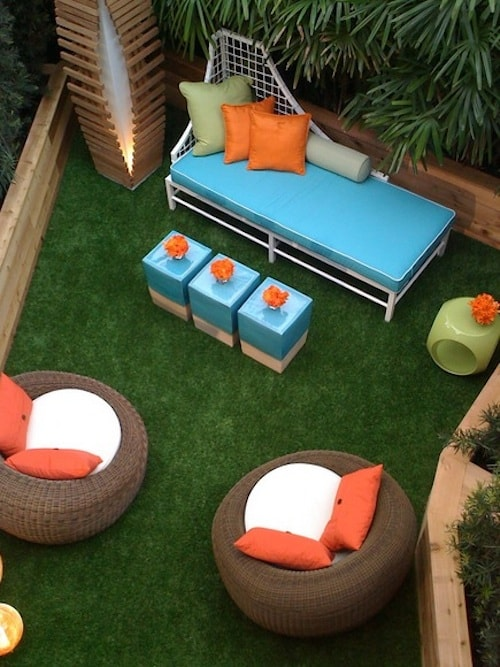 Asymmetric Backyard Idea