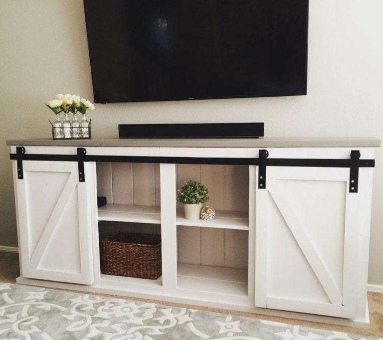 Barn Door Console DIY TV Stand Ideas