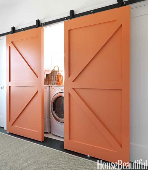 Barn Door Laundry Room