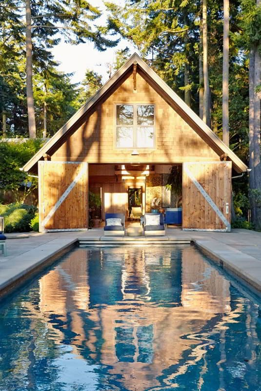 Barn Doors Pool Cabana Ideas