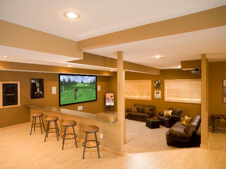 Basement Rec Room and Home Theater