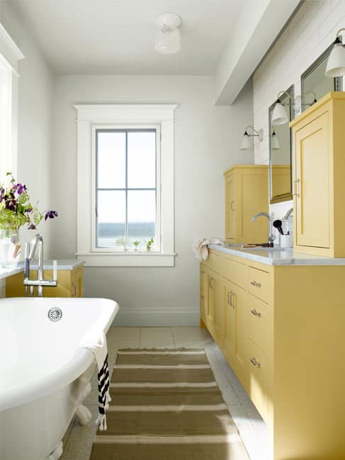 Shiny Bathroom Ideas in Yellow
