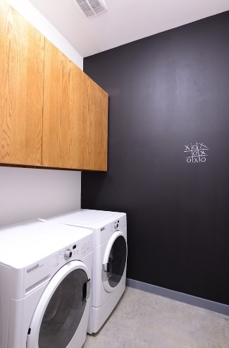 Black And Wood Laundry Room Paint Colors