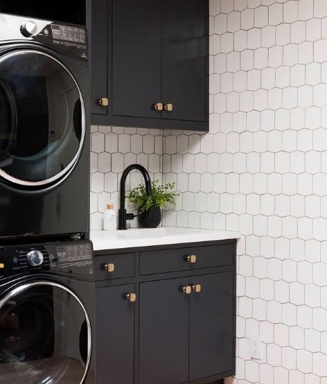 Black Iron And White Laundry Paint Colors