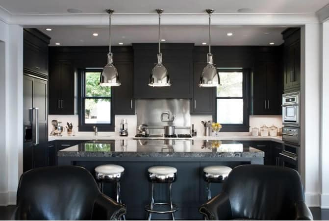 Black Kitchen Cabinet And Cupboard