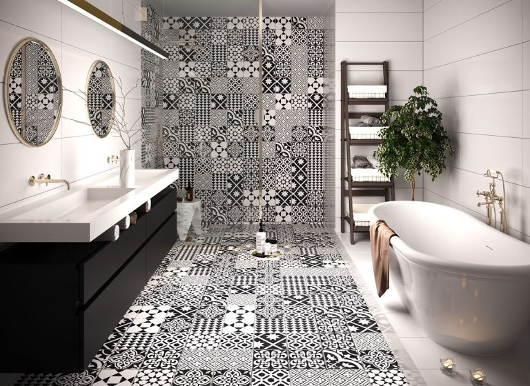 Classy Black and White Bathroom Ideas