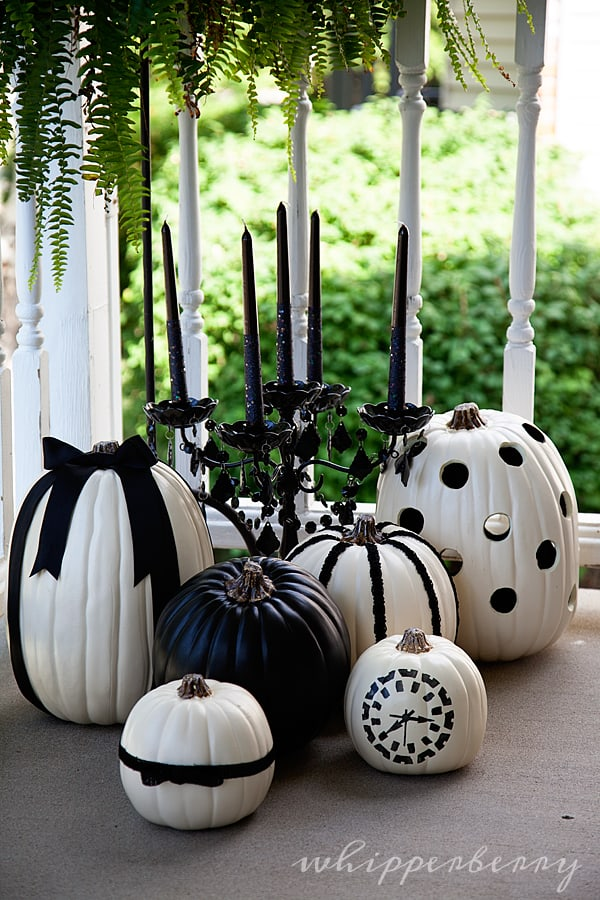Black and White Carving Pumpkin