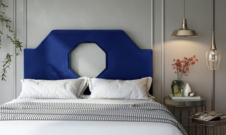 Blue Electric Octagon Cutout Cool Bed