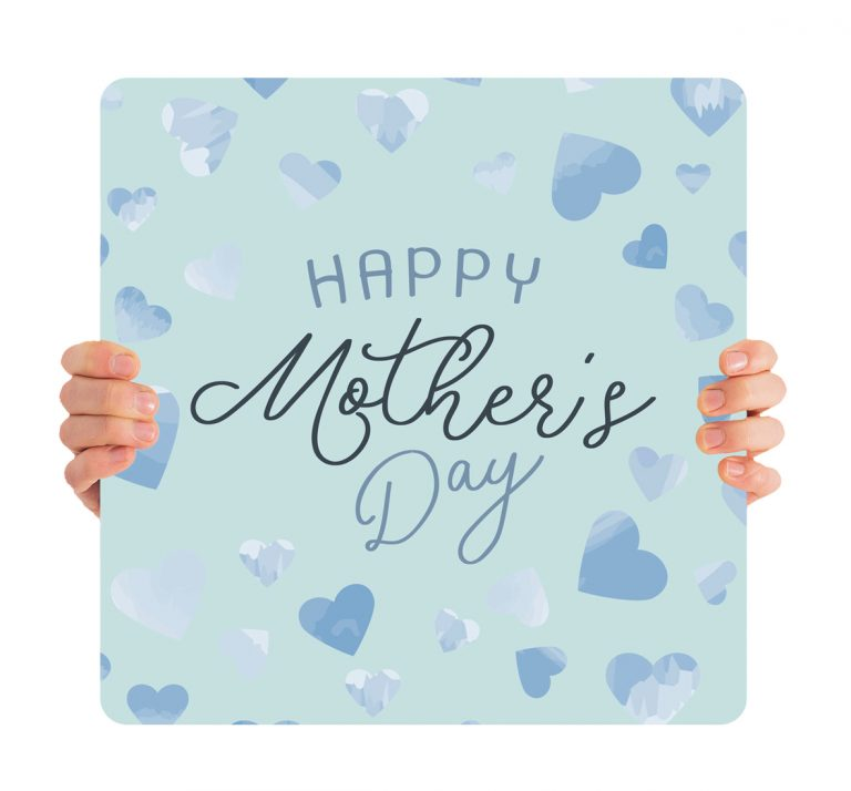 Blue Heart Mothers Day Signs