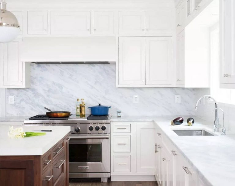 Blue White Marble Countertops