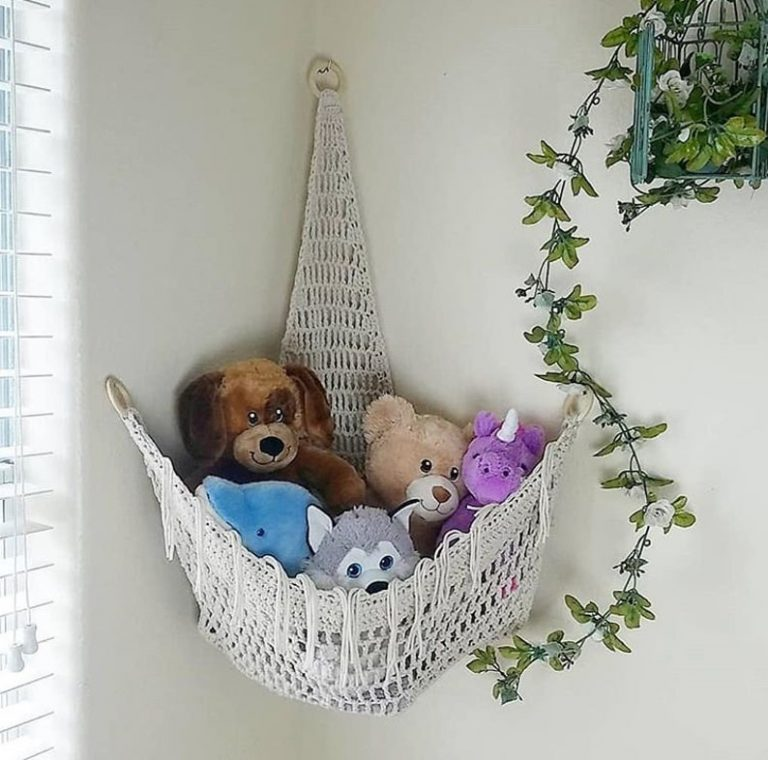 Bohemian Stuffed Animal Storage
