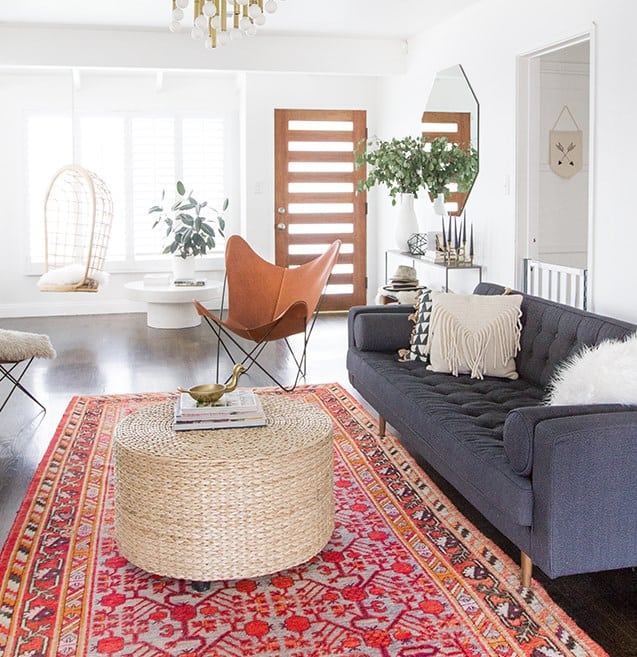 Bohemian Style Pillow Ideas For a Gray Couch