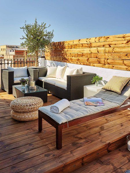 Bohemian Style Rooftop Deck