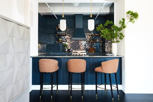 Nautical Mid Century Modern Kitchen