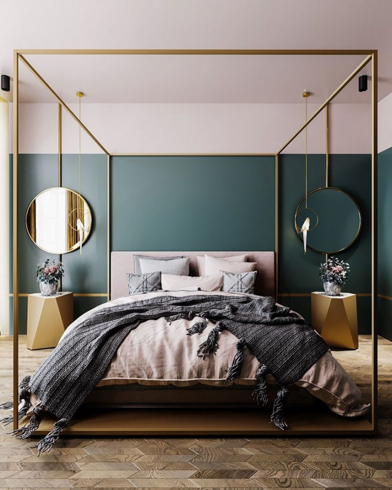 Brass Art Deco Bedroom