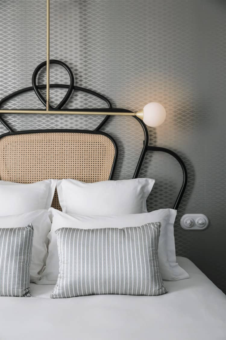 Brass and Rattan Deco Art Bedroom