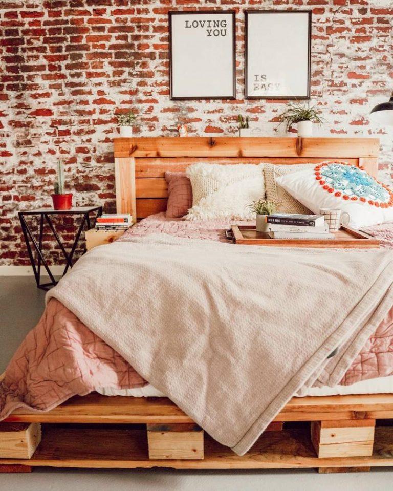 Brick Wall Industrial Bedroom