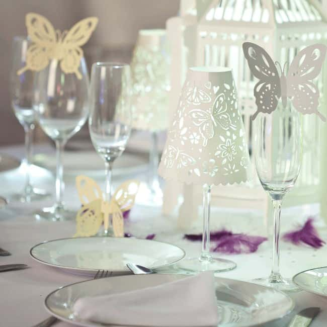 Butterfly Glass Wine Decorations