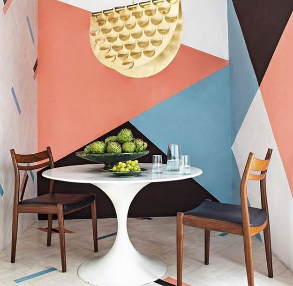Calm Geometric Wall Paint