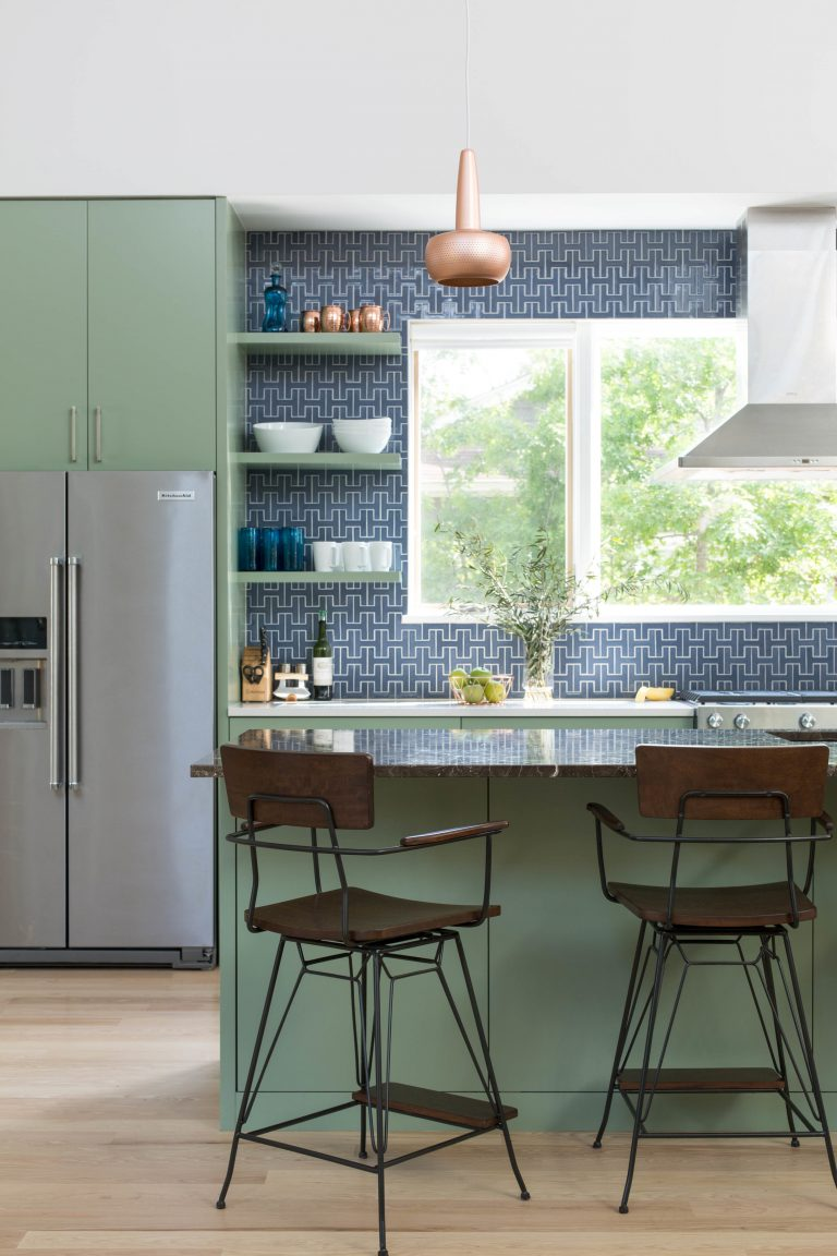 Calming Mid Century Modern Kitchen
