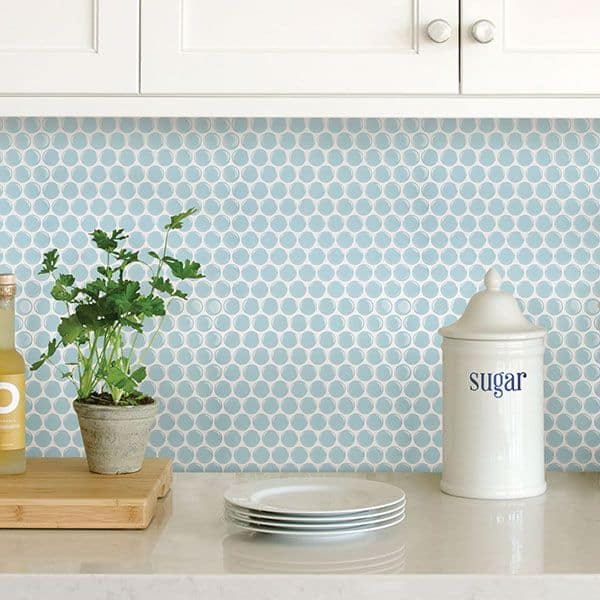 Calming Penny Tile Backsplash
