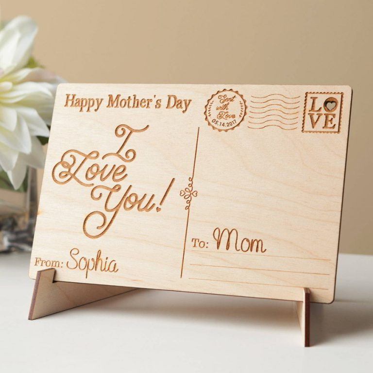 Carved Wood Mothers Day Signs