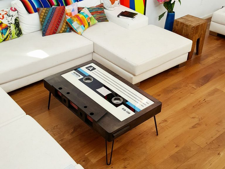 Cassette Tape Coffee Table for the Retro Look