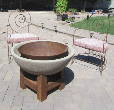 Cement Bowl Fire Pit