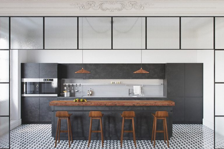 Charcoal Grey Kitchen Cabinet