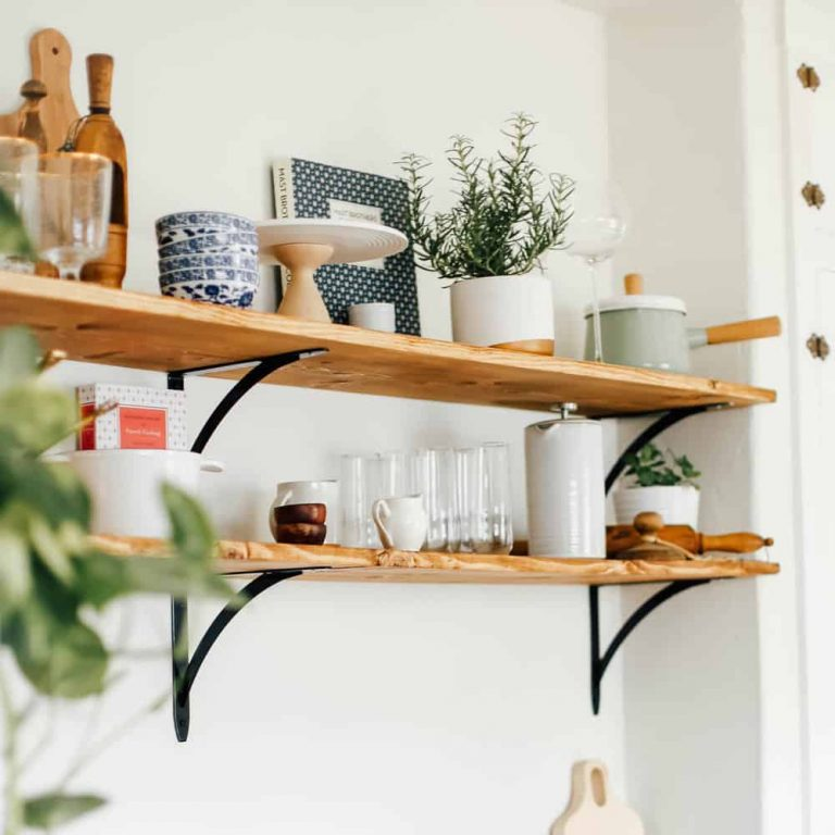 Cheap Open Kitchen Shelving