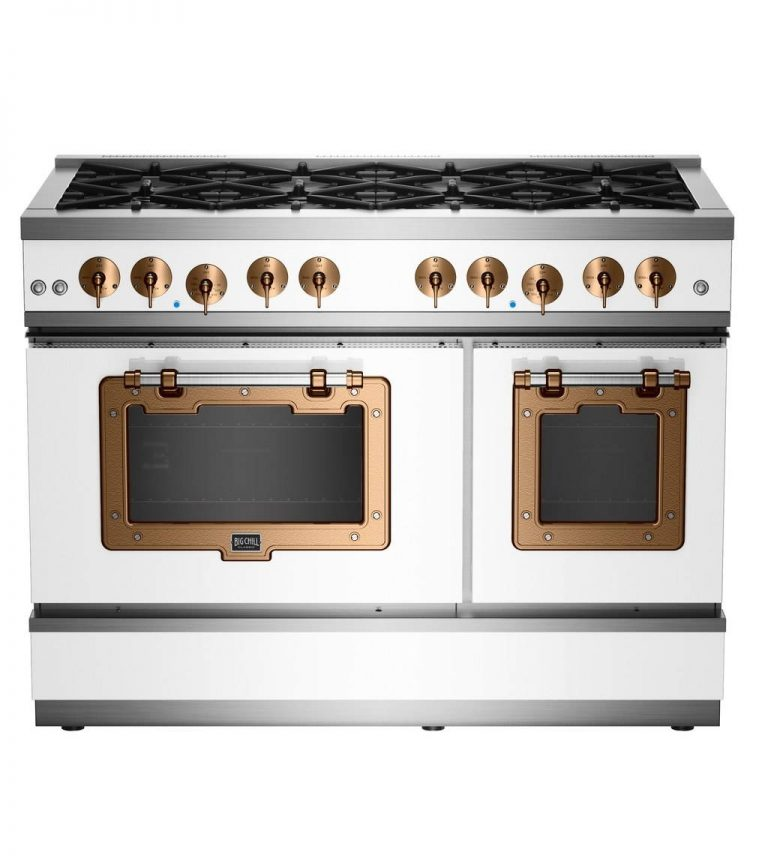 Classic Stove with copper trim
