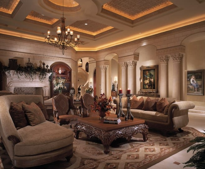 Classy Mansion Living Rooms