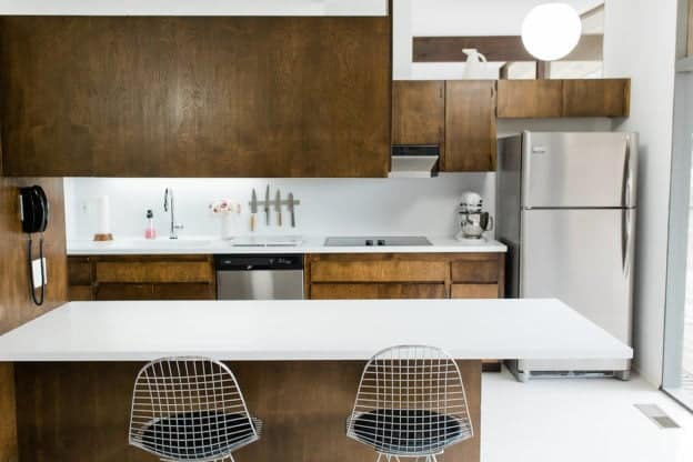 Clean Mid Century Modern Kitchen