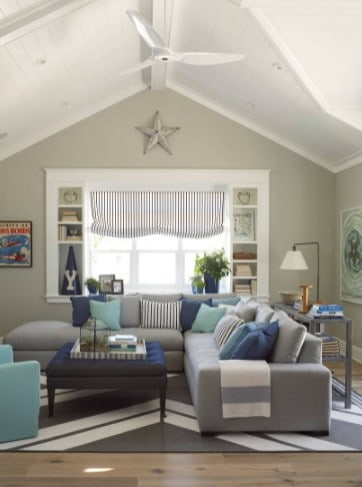 Coastal Style Pillow Ideas For A Gray Couch