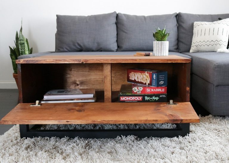 Coffee Table with Smart Hidden Storage