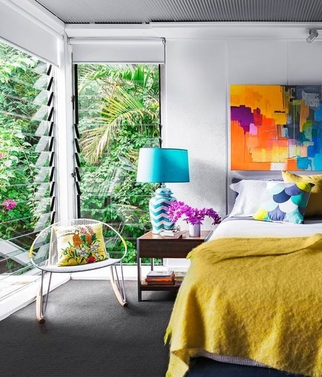 Colorful Art Deco Bedroom