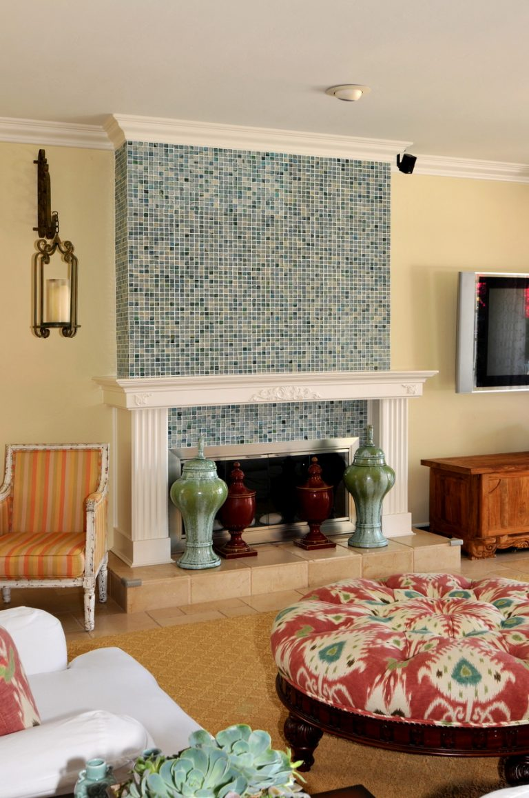 Fancy Colorful Fireplace Tiles