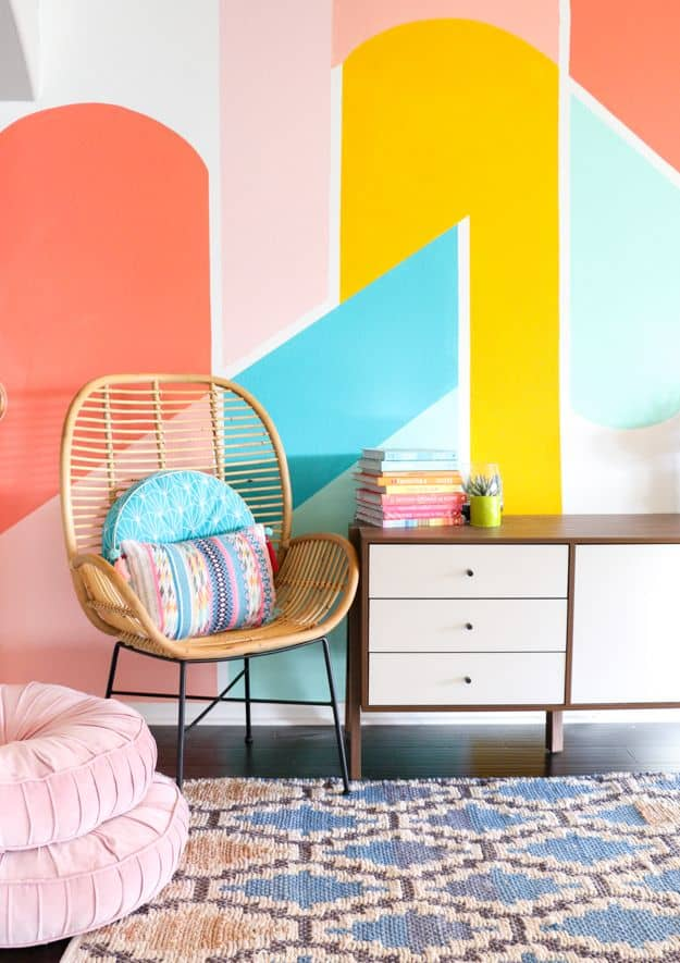 Colorful Geometric Wall Paint