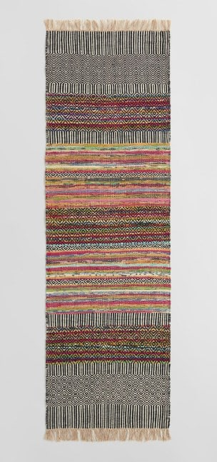 Colorful Kitchen Runner Rugs with Tassels
