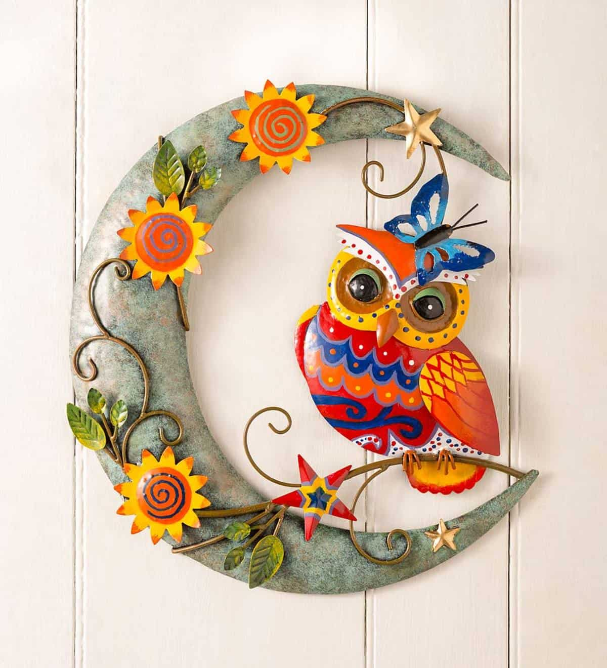 Colorful Owl Decor On the Moon