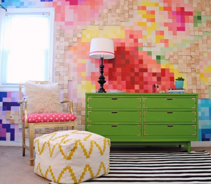 Colorful Wood Accent Wall Ideas
